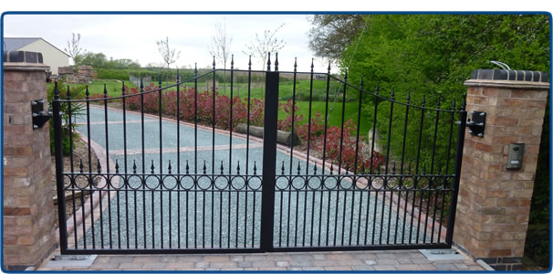 Home Design Gate Ideas: Wrought Iron Driveway Gates Coventry West Midlands