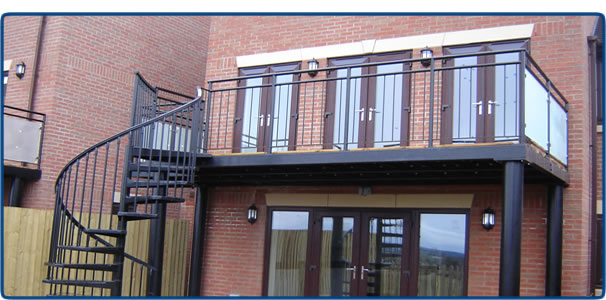 Wrought iron balconies bespoke wrought iron balconies for Metal balcony